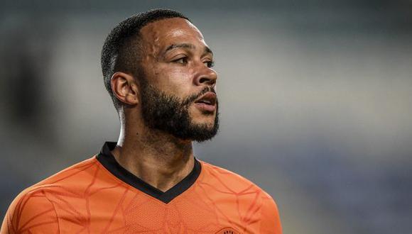Memphis Depay acaba contrato con Olympique Lyon a finales de junio de este año. (Foto: AFP)