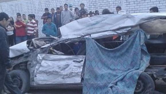 Huacho: auto se empotró contra un camión y falleció conductor