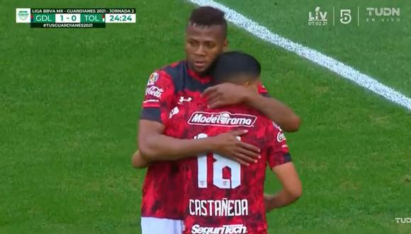 Chivas vs. Toluca: Molina y Castañeda convirtieron para configurar el 1-1 parcial   VIDEOS