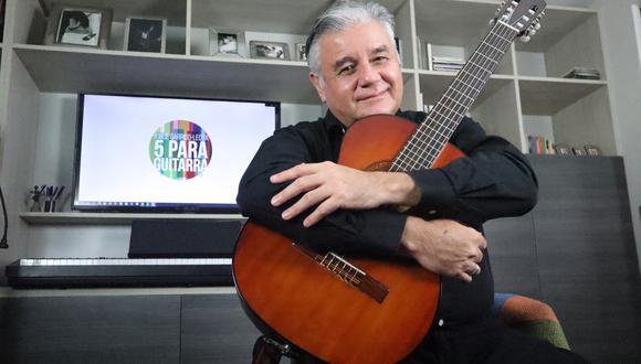 """El músico y compositor Jorge Garrido Lecca presentará a través de un concierto su libro de partituras """"5 para guitarras"""". Foto: Difusión."""