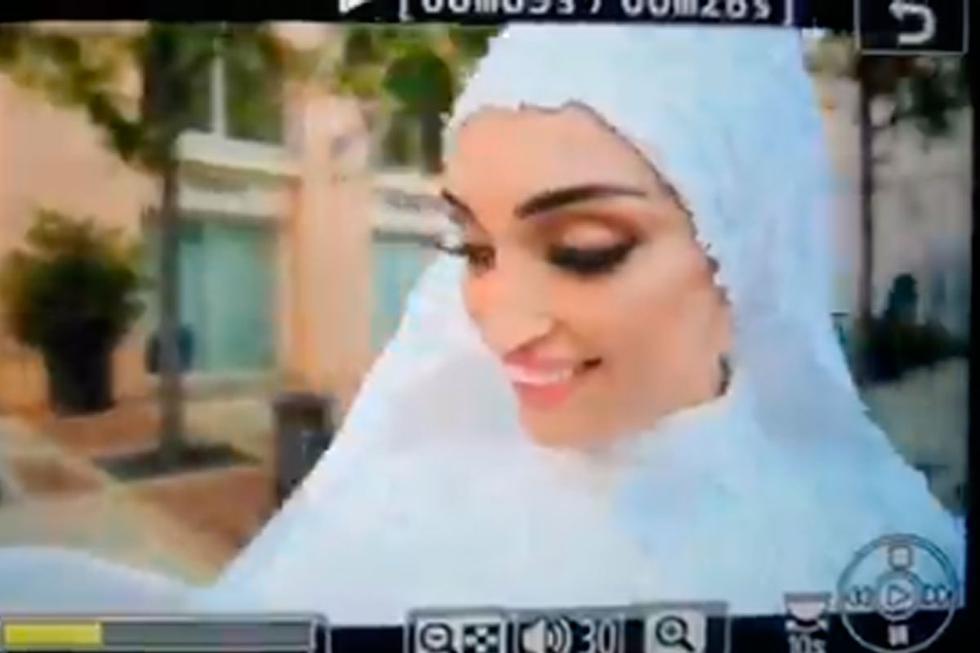 El video capta el momento de la explosión en Beirut durante una sesión fotográfica de una novia | Foto: Captura de @RaShalhoub/Twitter | Desliza a la derecha para ver  más fotos