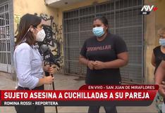 Feminicidio: hombre asesinó a cuchilladas a su pareja en San Juan de Miraflores