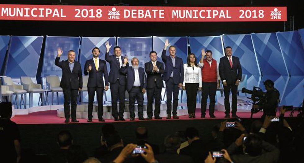 Tres horas duró el primer debate de candidatos a la Alcaldía de Lima. Nueve de los diez invitados participaron. (Foto: Anthony Niño de Guzmán/El Comercio)