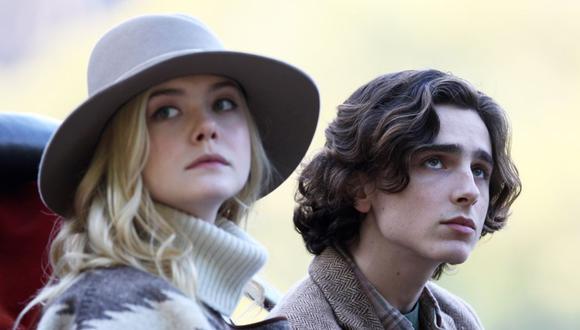 Elle Fanning y Timothée Chalamet protagonizan la nueva comedia de Woody Allen. (Foto: Difusión)