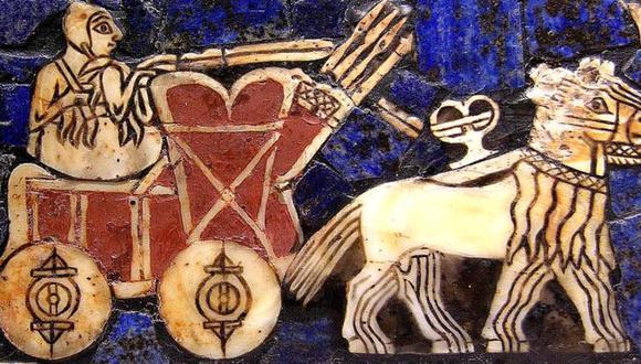 Carro sumerio de batalla. Circa 2500 a.C. (Foto: Dominio Público)