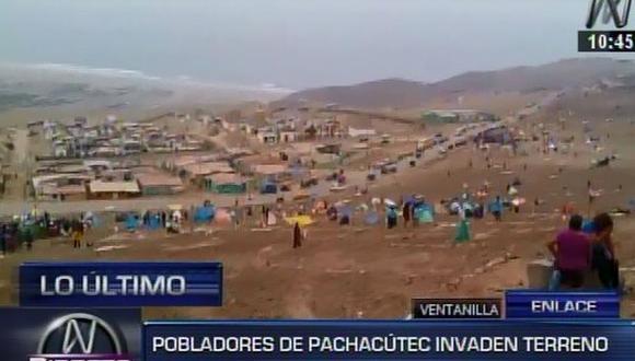 Invasores regresan a cerro de Pachacútec ante falta de control