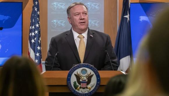 El secretario de Estado Mike Pompeo anunció la decisión de su gobierno. Foto: EPA, vía BBC Mundo