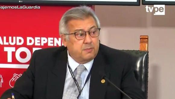 Fernando Carbone fue quien dirigió las investigaciones sobre el caso 'Vacunagate'. (TV Perú)