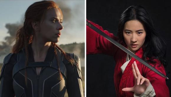 """La compañía de entretenimiento afirmó que sí estrenará """"Mulan"""" y """"Black Widow"""" en pantalla gigante. (Difusión / Disney / Marvel)."""