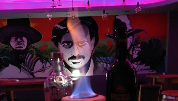"""Los dueños aseguran que el mural era para traer un """"tema sudamericano"""" al bar. (Escobar)."""
