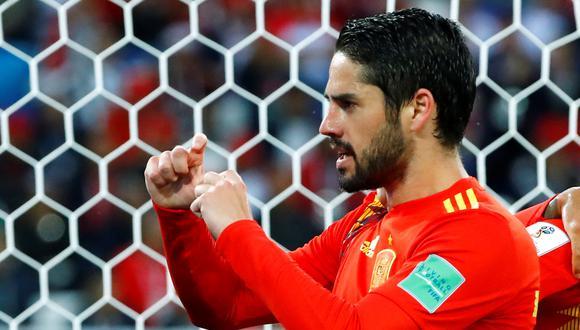 """""""Tenemos que jugar más fácil y no cometer errores con la pelota a balón parado"""", aseguró el volante de España que anotó el primer gol de 'La Roja' ante Marruecos en Rusia 2018. (Foto: AFP)"""