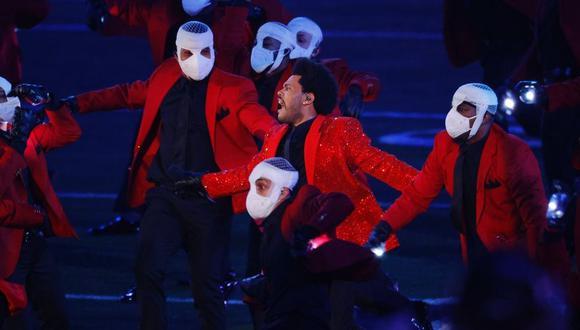 The Weeknd fue el encargado del show de medio tiempo. (NFL/FOX)