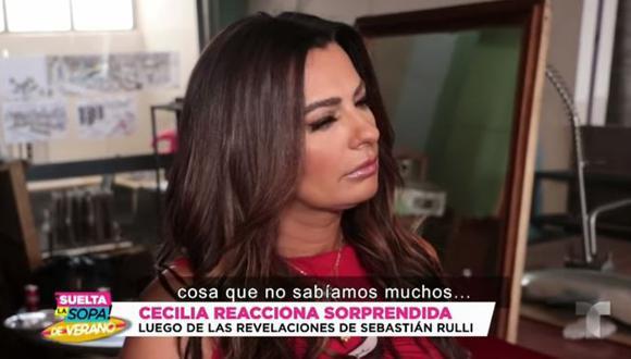Cecilia Galliano y su reacción luego que Sebastián Rulli revelara que perdieron un bebé (Foto: Captura de video)