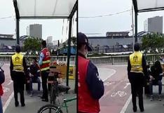 Reportan accidente en ciclosenda de San Isidro [VIDEO]