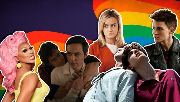 Top 30 de series y películas por el mes del orgullo. (Diseño: El Comercio)