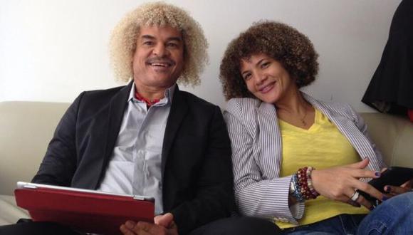 ¿Sabías que la esposa de Valderrama tiene el mismo pelo que él?