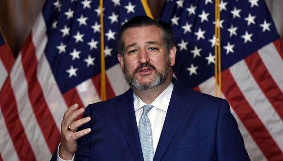 Ted Cruz y 10 senadores republicanos forzarán un voto en el Congreso de Estados Unidos contra el triunfo de Joe Biden. (Foto: Olivier DOULIERY / POOL / AFP).