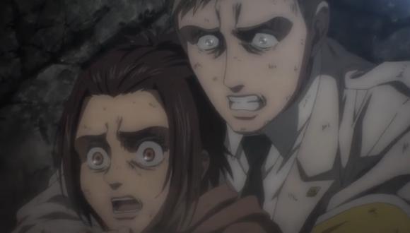 Gabi y Colt asustados viendo como la gente mataba a Udo (Foto: MAPPA Studio)