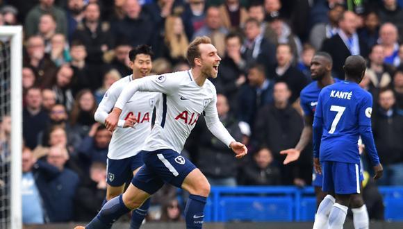 Chelsea no pudo mantener su ventaja frente a Tottenham y terminó viendo cómo le daban vuelta al resultado. La figura fue el volante Dele Alli, quien concretó un doblete. (Foto: AFP)