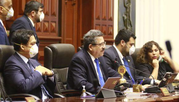 El presidente del Congreso reiteró que en el último pleno se tomaron todas las medidas de seguridad ante el coronavirus. (Foto: Andina)