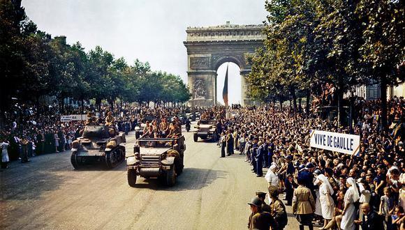 La liberación de París en 1944. (Foto: Wikimedia)