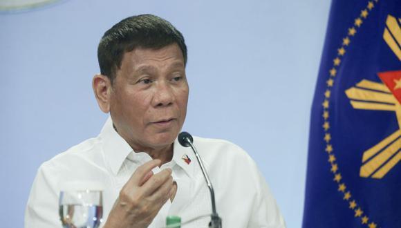 El presidente de Filipinas Rodrigo Duterte. (Simeon Celi/Malacanang Presidential Photographers Division/AP).