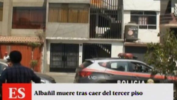 SJL: albañil murió tras caer de tercer piso al no tener arnés
