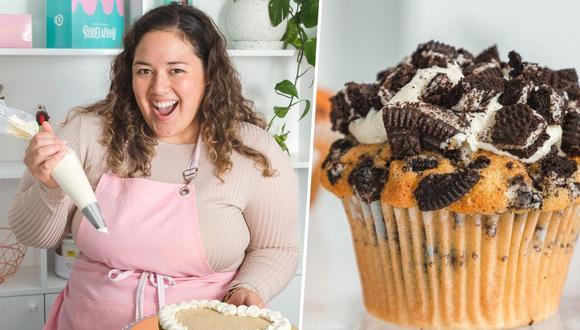 A raíz de la pandemia, la repostera Andrea Cevallos cambió su concepto de negocio. Ya no vende cupcakes ni galletas, pero sí brinda un surtido abanico de clases virtuales para todos aquellos que quieran formarse en pastelería. Foto: Jhon Herrera
