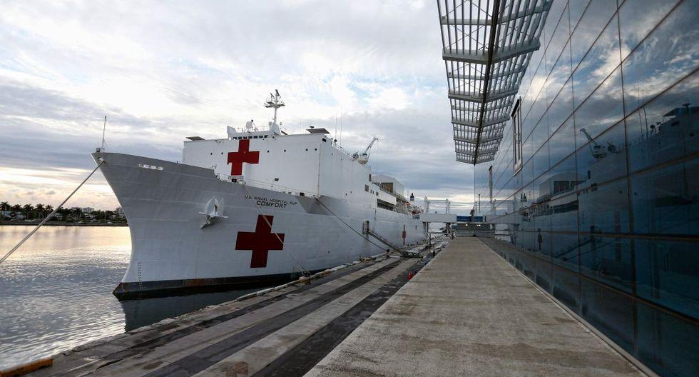El USNS Comfort zarpa para calmar los efectos de crisis humanitaria venezolana (Foto: AFP)