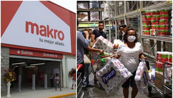 Makro, al igual que otros supermercados, han decidido por racionar la venta de productos como papel higiénico, papel toalla, jabones y antibacteriales ante compras masivas por temor a la propagación del coronavirus.  (Fotos: El Comercio)