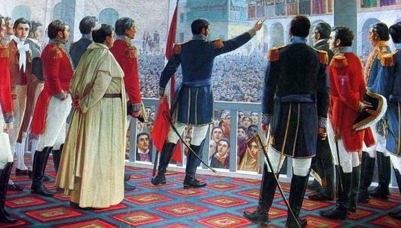 'La proclamación de la Independencia' de Juan Lepiani. (Museo Nacional de Arqueología, Antropología e Historia del Perú/Ministerio de Cultura del Perú)
