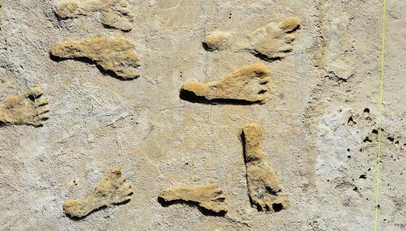 Esta imagen muestra huellas fosilizadas en Nuevo México. (Foto: Handout / National Park Service and Bournemouth University / AFP)