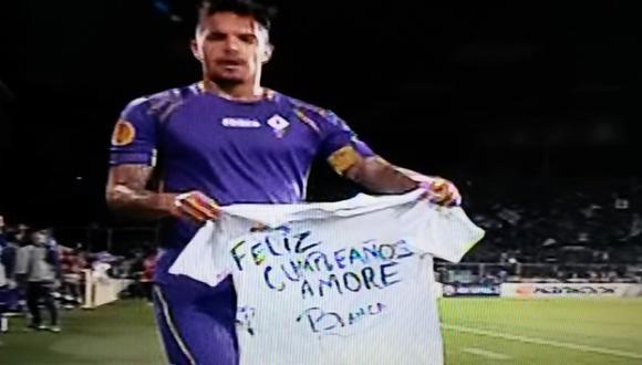 Juan Manuel Vargas dedicó gol a su esposa con este mensaje