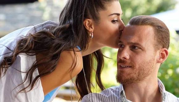 """Kerem Bürsin y Hande Erçel son la pareja del momento. Los actores turcos se han ganado el cariño del público extranjero gracias a papeles en """"Love Is in the Air"""" (Foto: MF Yapım)"""