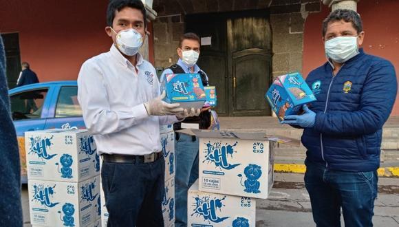 Creador de galletas contra la anemia hizo una importante donación para familias vulnerables de Ayacucho (Foto: Municipalidad de Huamanga)