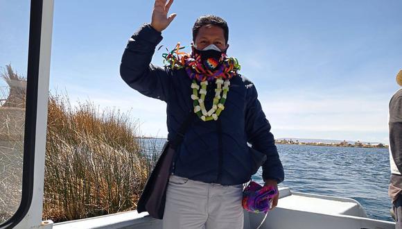 Orlando Arapa es congresista de Acción Popular por Puno y viajó a esta región durante su semana de representación. (Foto: Facebook Orlando Arapa)