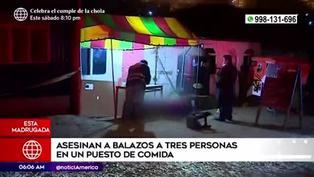 Ancón: desconocido disparó y mató a tres personas