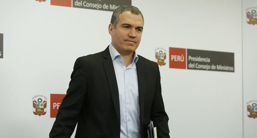 El presidente del Consejo de Ministros, Salvador del Solar, participa en una conferencia de prensa el pasado 27 de marzo. (Foto: PCM).