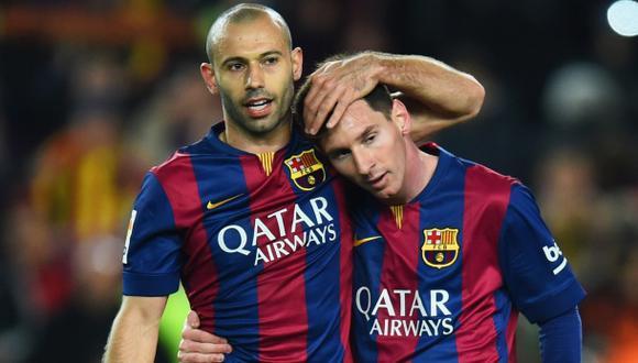 "Mascherano: ""Hay que ser afortunado para ver de cerca a Messi"""