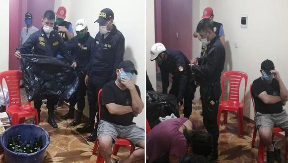 Los detenidos serán denunciados por incumplir las restricciones del estado de emergencia para frenar el contagio de coronavirus en el país. (PNP)