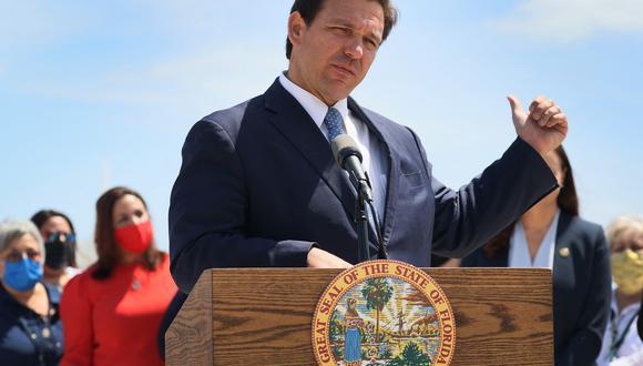 El gobernador de Florida, Ron DeSantis. Donald Trump lo imagina como su dupla en la carrera hacia la Casa Blanca en el 2024. (AFP)