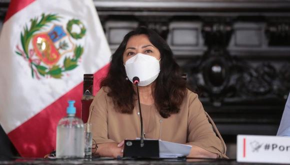 Violeta Bermúdez afirma que están garantizadas las vacunas contra el COVID-19 contratadas para el próximo gobierno que asume en julio. (Foto: PCM)