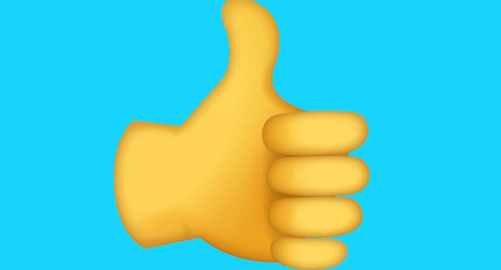 ¿Sabes lo que realmente significa el pulgar arriba de WhatsApp? Te quedarás impactado. (Foto: Emojipedia)