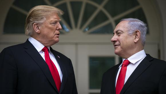 Altos del Golán: Siria acusa a Estados Unidos de atacar su soberanía al reconocer soberanía de Israel sobre territorio en disputa   Donald Trump   Benjamin Netanyahu. (Bloomberg).