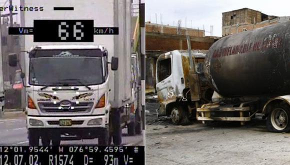 El vehículo siniestrado en Villa El Salvador era un furgón y se transformó para transportar GLP. (Fotos: El Comercio)