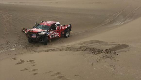La delegación peruana sufrió una nueva baja en el Dakar 2019, la de Diego Weber por lesiones de él y su copiloto. (Foto: Facebook)