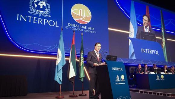 """Kim Jong Yang, Presidente de la interpol dijo que """"nuestro mundo se enfrenta ahora a cambios sin precedentes que plantean enormes desafíos a la seguridad pública"""". (Foto: Twitter / Interpol)"""