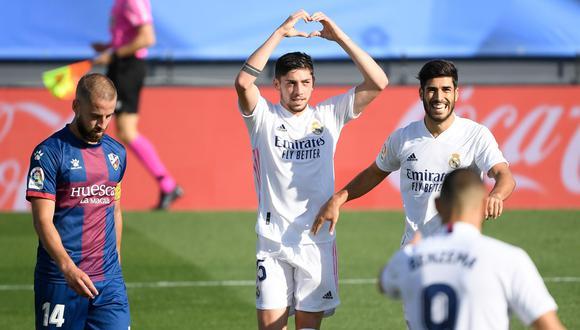Federico Valverde convirtió el 3-0 a favor del Real Madrid