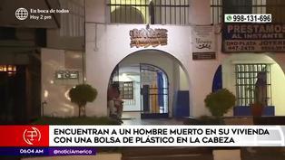 Hallan a hombre muerto en su vivienda de Miraflores