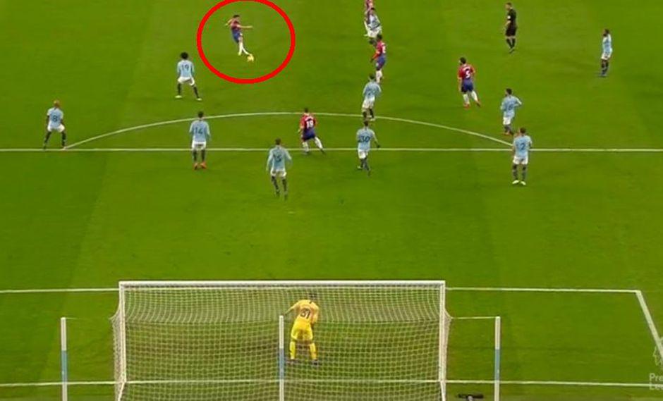 ¡Ninguna táctica sirve contra un gol así Guardiola! El asombroso bombazo de Townsend desde fuera del área. (Foto: Captura de pantalla)